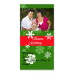 Tarjeta de la foto del navidad tarjetas fotograficas