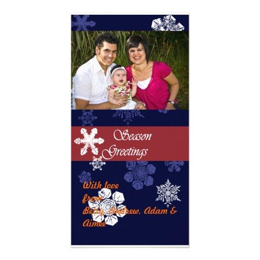 Tarjeta de la foto del navidad tarjeta fotográfica personalizada