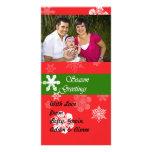Tarjeta de la foto del navidad tarjetas fotográficas