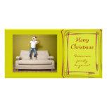 Tarjeta de la foto del navidad plantilla para tarjeta de foto