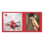 Tarjeta de la foto del navidad tarjetas fotográficas personalizadas