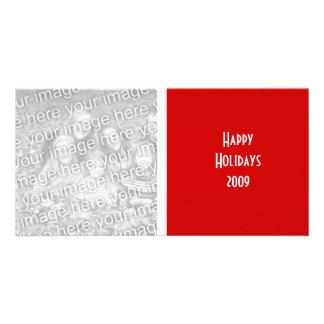 Tarjeta de la foto del navidad tarjetas con fotos personalizadas