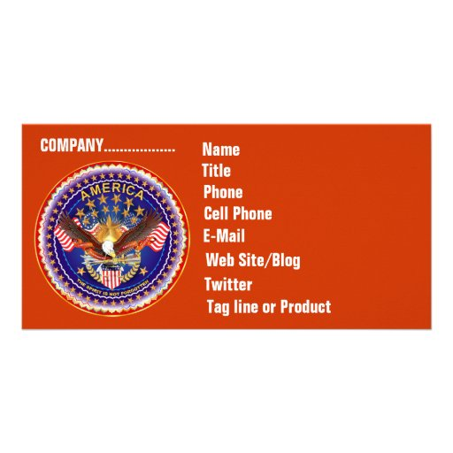 Tarjeta de la foto del negocio de SOA horizontal.  Tarjeta Fotografica Personalizada