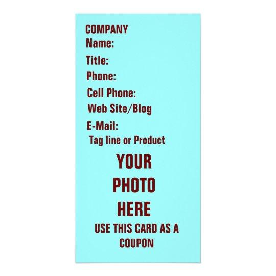 Tarjeta de la foto del negocio tarjeta personal