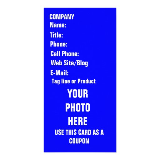 Tarjeta de la foto del negocio tarjeta personal con foto
