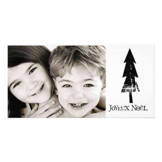 tarjeta de la foto del noel del joyeux tarjetas con fotos personalizadas
