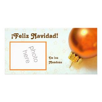 tarjeta de la foto del ornamento del navidad del o tarjetas fotograficas