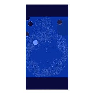Tarjeta de la foto del oso de los azules tarjeta personal con foto