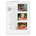 tarjeta de la foto del otoño