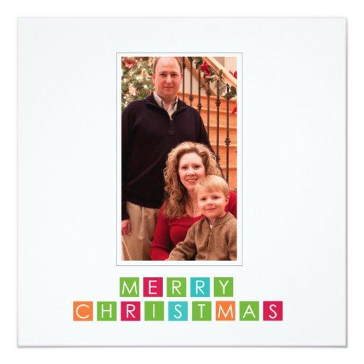 tarjeta de la foto del potriat del navidad de la invitación 13,3 cm x 13,3cm