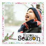 tarjeta de la foto del potriat del navidad de la invitacion personal