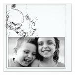 tarjeta de la foto del potriat del navidad de la invitaciones personales