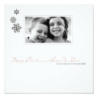 """tarjeta de la foto del potriat del navidad de la invitación 5.25"""" x 5.25"""""""