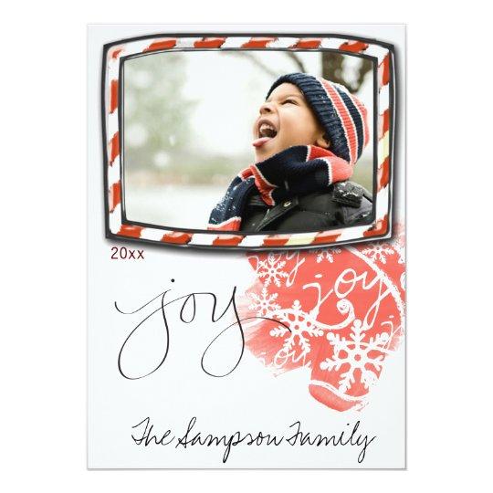 """tarjeta de la foto del potriat del navidad de la invitación 5"""" x 7"""""""