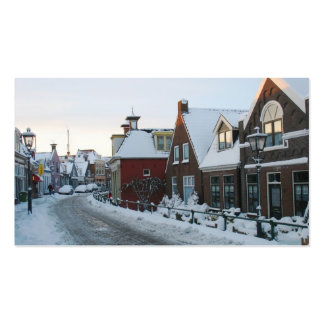 Tarjeta de la foto del pueblo de la nieve de tarjetas de visita