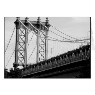 Tarjeta de la foto del puente de Brooklyn