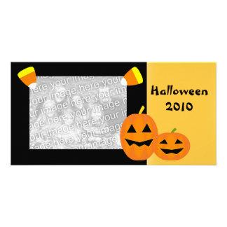 Tarjeta de la foto del remiendo de la calabaza de tarjetas fotograficas personalizadas