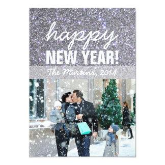 Tarjeta de la foto del saludo del Año Nuevo Invitacion Personalizada
