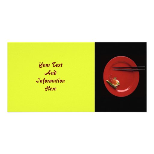 Tarjeta de la foto del sushi tarjeta personal con foto