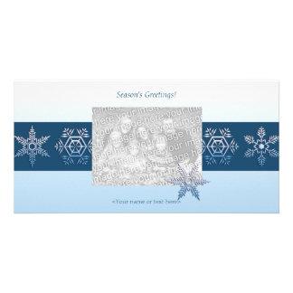 Tarjeta de la foto del trío del copo de nieve tarjetas personales