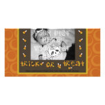 Tarjeta de la foto del truco o de la invitación plantilla para tarjeta de foto