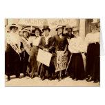 Tarjeta de la foto del vintage del sufragio de las