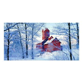 TARJETA de la FOTO   el molino rojo viejo Tarjeta Fotografica