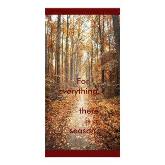 Tarjeta de la foto - estacional - dicha del otoño tarjetas fotográficas
