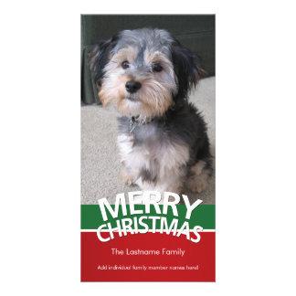Tarjeta de la foto: Felices Navidad con 1 foto Tarjetas Personales Con Fotos