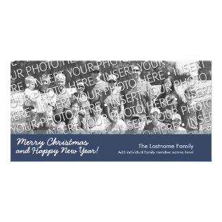 Tarjeta de la foto: Felices Navidad con 1 foto Tarjetas Fotográficas