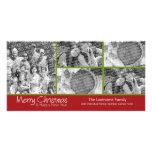 Tarjeta de la foto: Felices Navidad con collage de