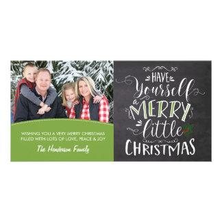 Tarjeta de la foto - Felices pequeños Navidad Tarjetas Con Fotos Personalizadas
