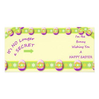 Tarjeta de la foto - soy usted soy conejito tarjetas con fotos personalizadas