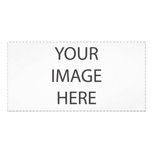 Tarjeta de la foto tarjeta personal