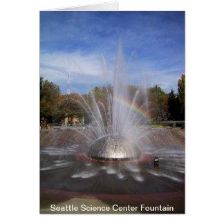 Tarjeta de la fuente del centro de la ciencia de S