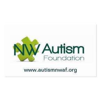 Tarjeta de la fundación del autismo del nanovatio tarjetas de visita