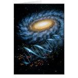 Tarjeta de la galaxia de la DNA