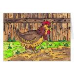 Tarjeta de la gallina del corral