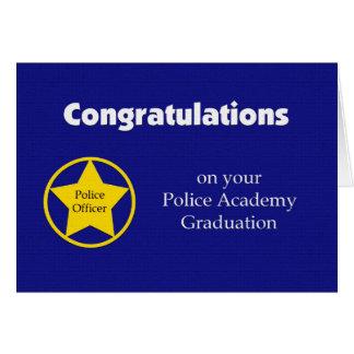 Tarjeta de la graduación de la academia de policía
