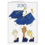 tarjeta de la graduación de la enhorabuena