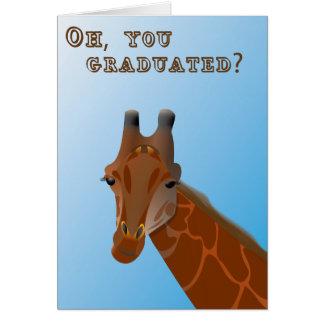 Tarjeta de la graduación de la jirafa