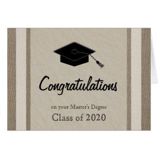 Tarjeta de la graduación de los amos