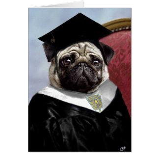 Tarjeta de la graduación del barro amasado