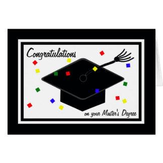 Tarjeta de la graduación del masters