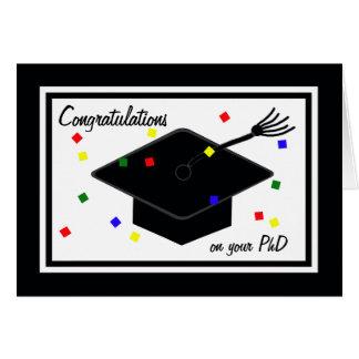 Tarjeta de la graduación del PhD
