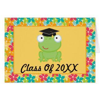 Tarjeta de la graduación del preescolar o de la