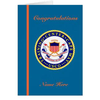 Tarjeta de la graduación del recluta del
