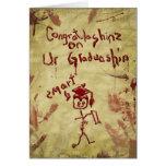 tarjeta de la graduación del zombi