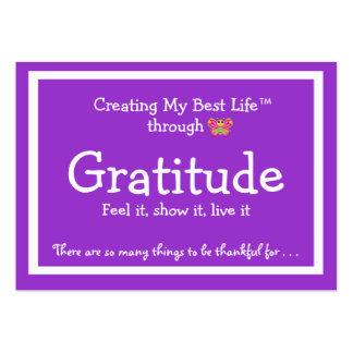 Tarjeta de la gratitud con la mariposa linda tarjetas de visita grandes