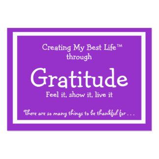 Tarjeta de la gratitud tarjetas de visita grandes